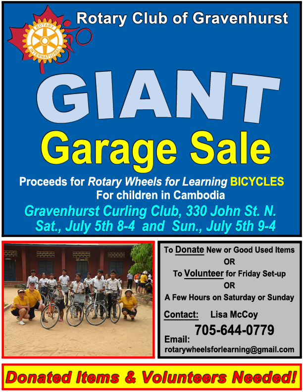 GIANT GARAGE SALE JUY 5 & 6