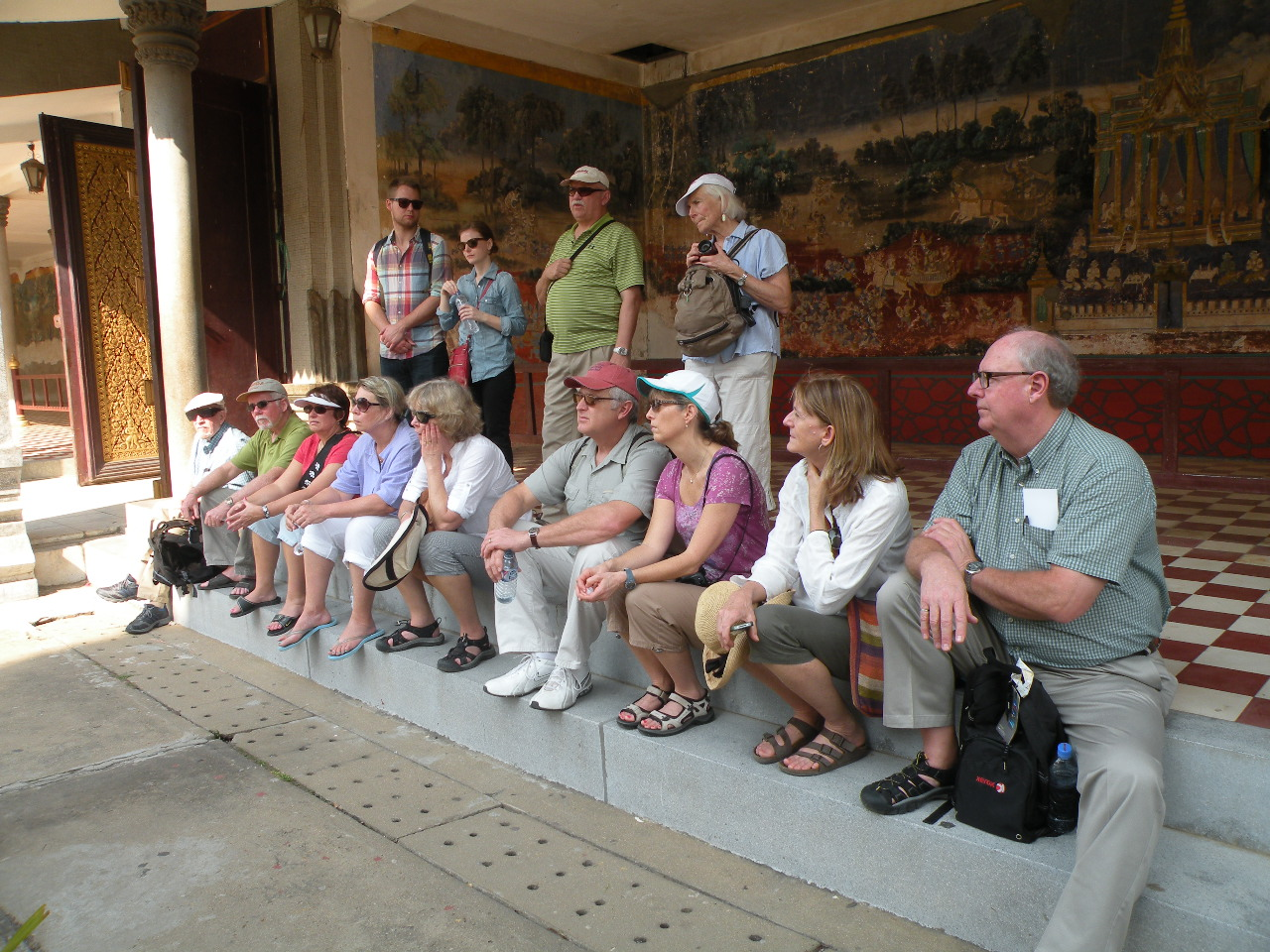 Enjoying a Guided Tour of the Royal Palace